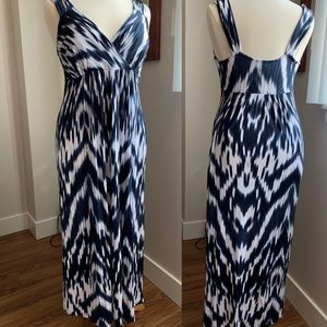 INC Blue & White Maxi Dress (by Macy's)